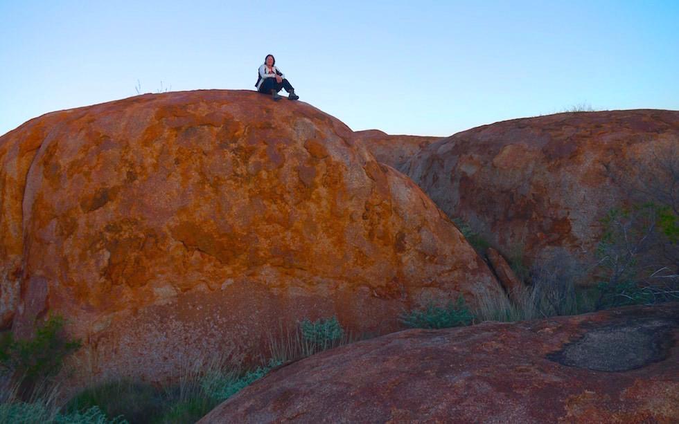 Devil Marbles CenterSunset  Australia Northern Territory