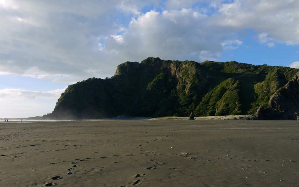 Lonely beautiful Karekare Beach