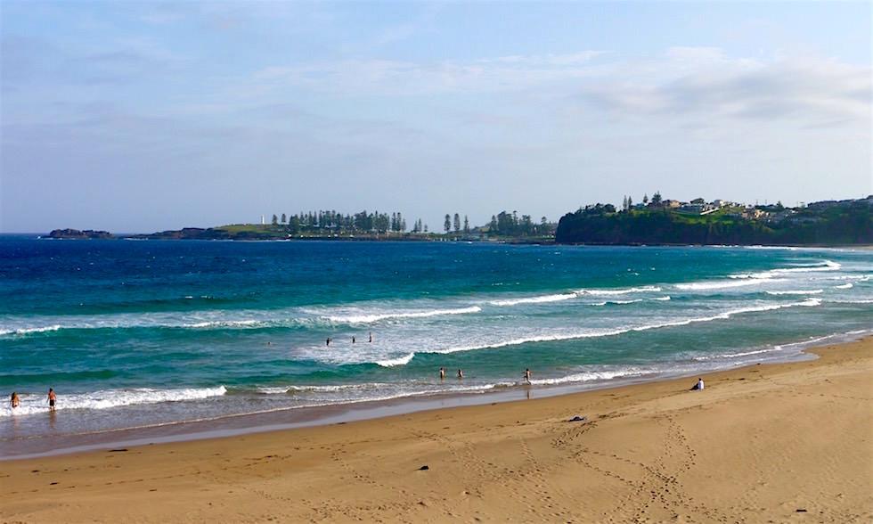 Blick von Bombo Beach auf Kiama - NSW