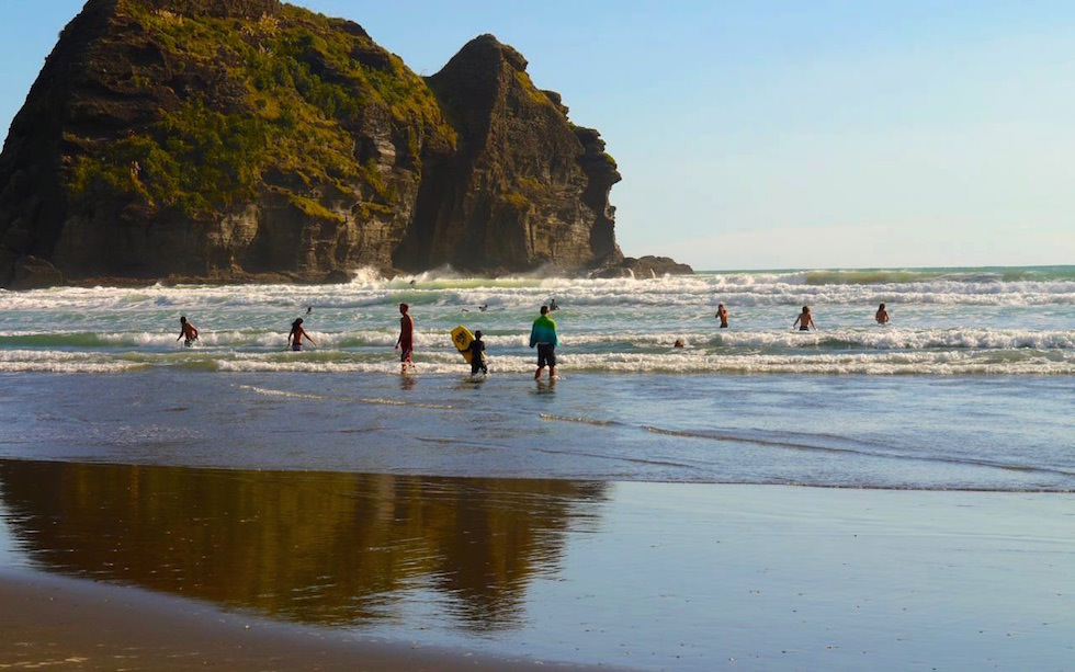 Beach and Surf at Piha near Auckland