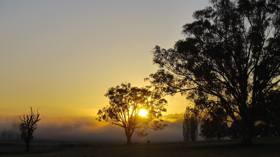 sunset in Australias outback near Roma