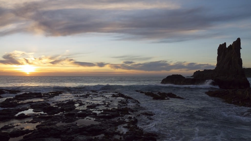 Sunrise at Cathedral Rock, New South Wales