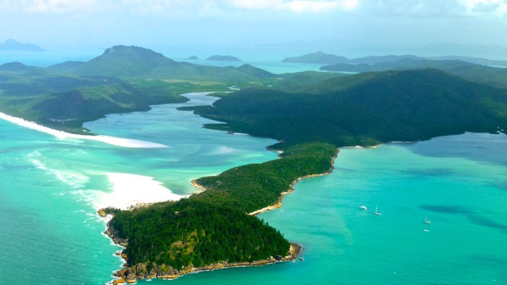 Whitsunday Island near Great Barrier Reef in Australia
