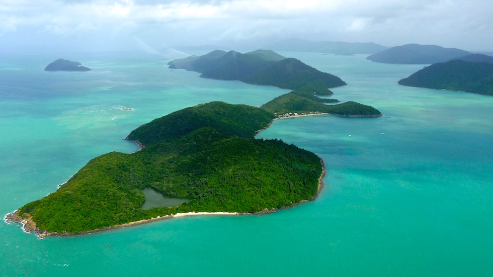 Whitsunday Passage close to Great Barrier Reef