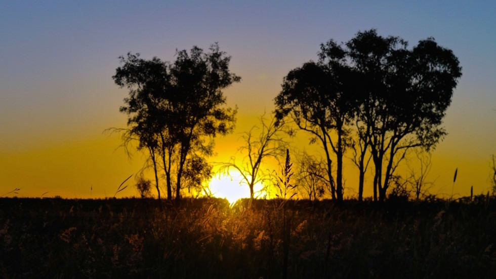 sunset outback near Plain Creek