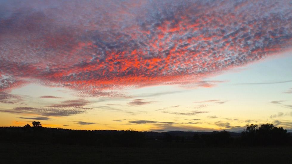 Sonnenuntergang Outback near Roma