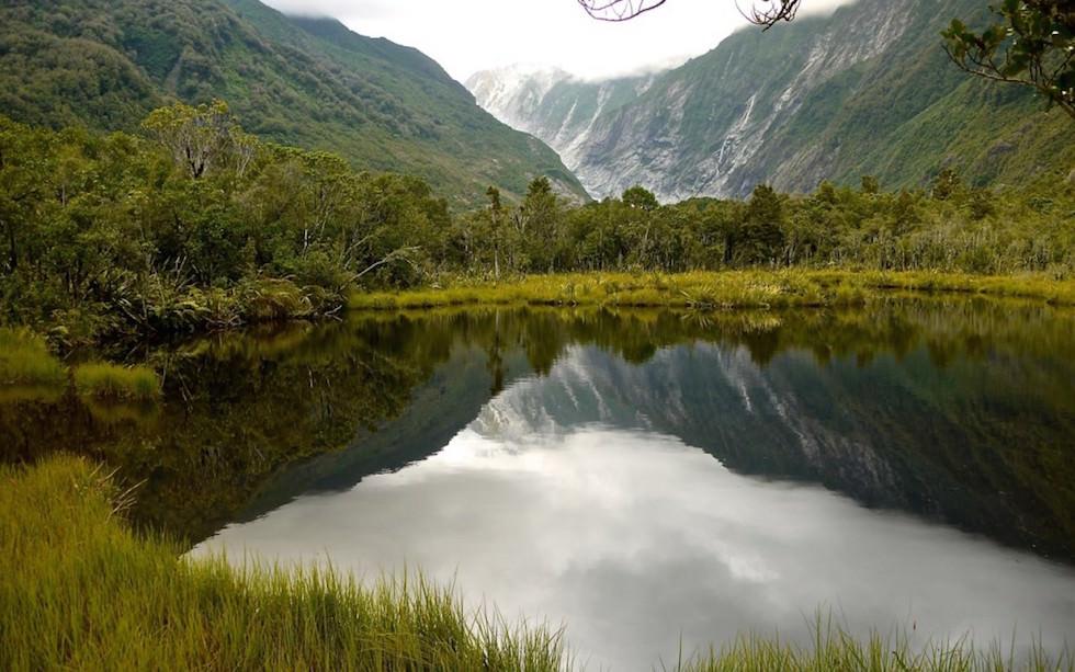 Lake at Franz Josef Glacier South Island of New Zealand