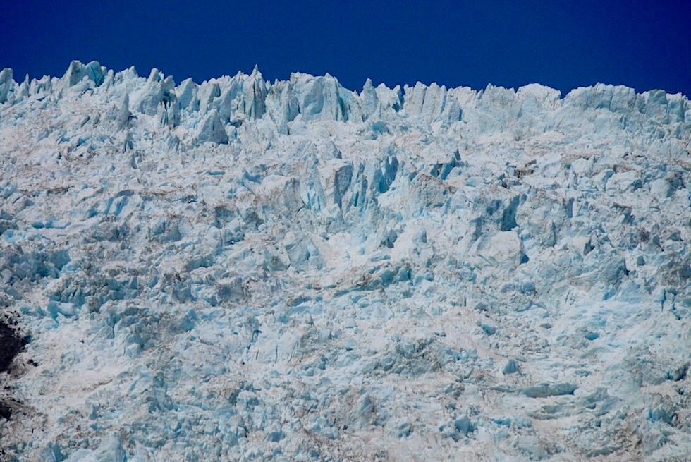 Franz Josef Gletscher - Ausblick Eisfeld & Gletscher - Gletschertal-Wanderung - West Coast Region - Südinsel Neuseeland