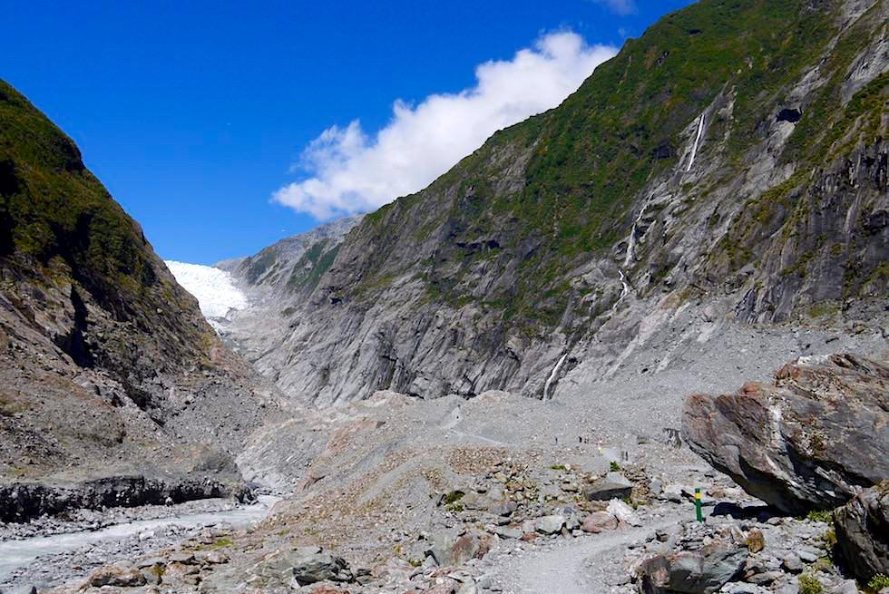Gletschertal - Franz Josef Gletscher - Westland National Park - Südinsel Neuseeland