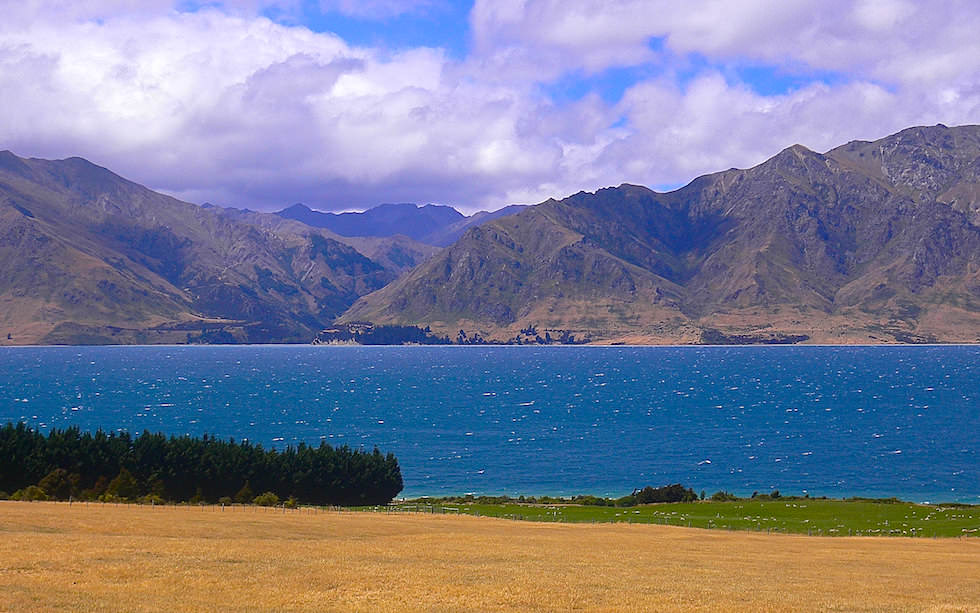 Lake Hawea in Otago Region New Zealand
