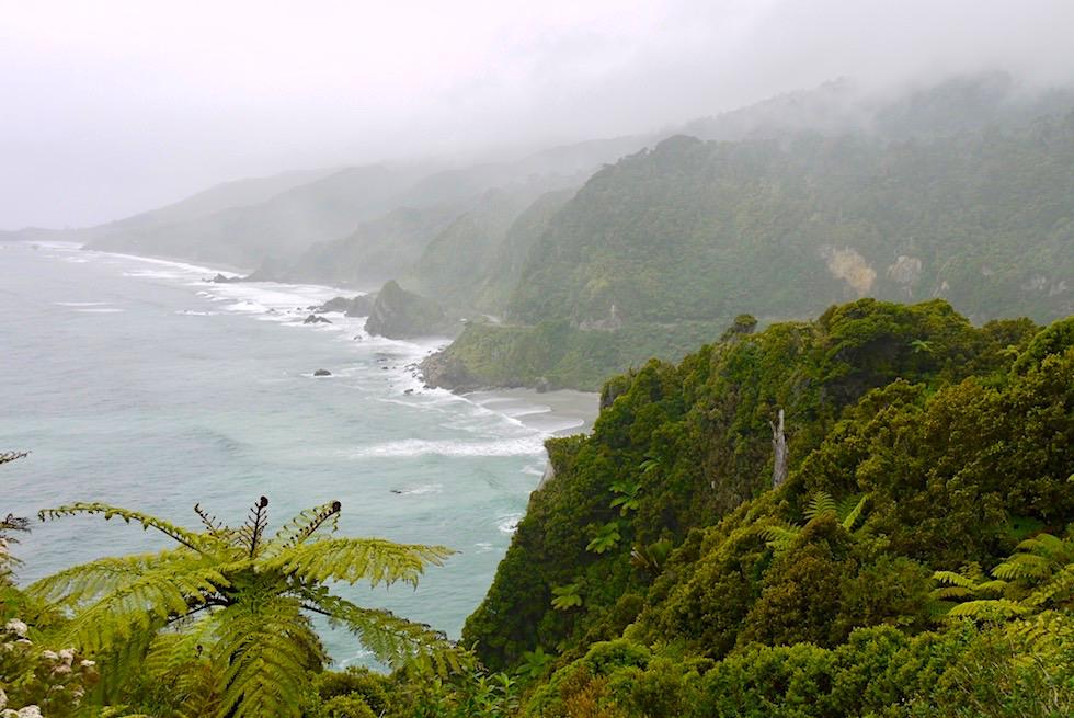 Pancake Rocks - Richtung Norden entlang der Westküste - Südinsel Neuseeland