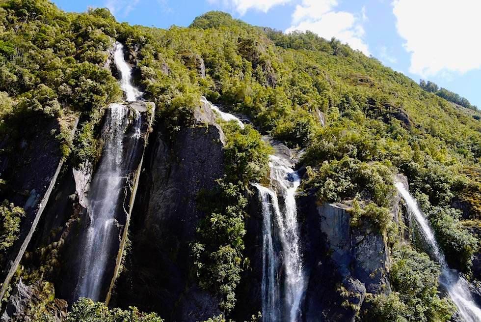Wasserfälle - Franz Josef Gletscher Wanderung - Westland National Park - Südinsel Tasmanien