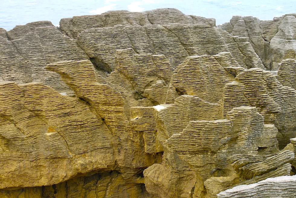 Wie entstanden die Pancake Rocks bei Punakaiki - Paparoa National Park - Westküste Südinsel Neuseeland