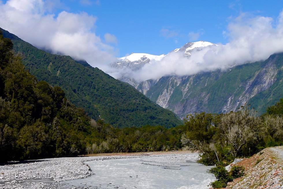 Zufahrt zum Franz Josef Gletscher - Westland National Park - Südinsel Tasmanien