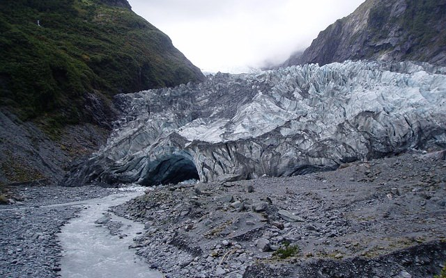 Franz Josef Gletscher: Gletschertor - Westland National Park - Südinsel Neuseeland