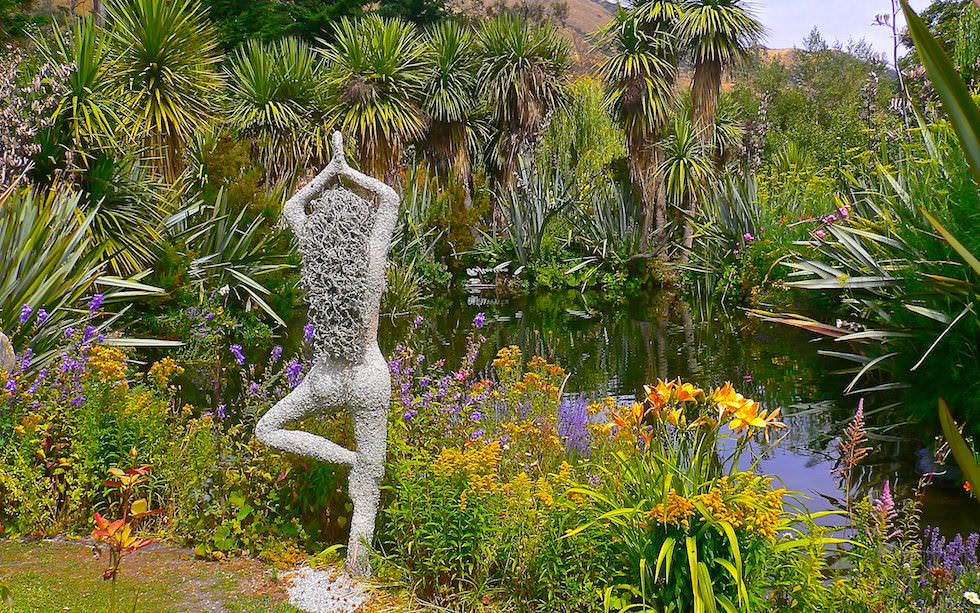 Little Paradise Tea Garden Sculpture near Queenstown