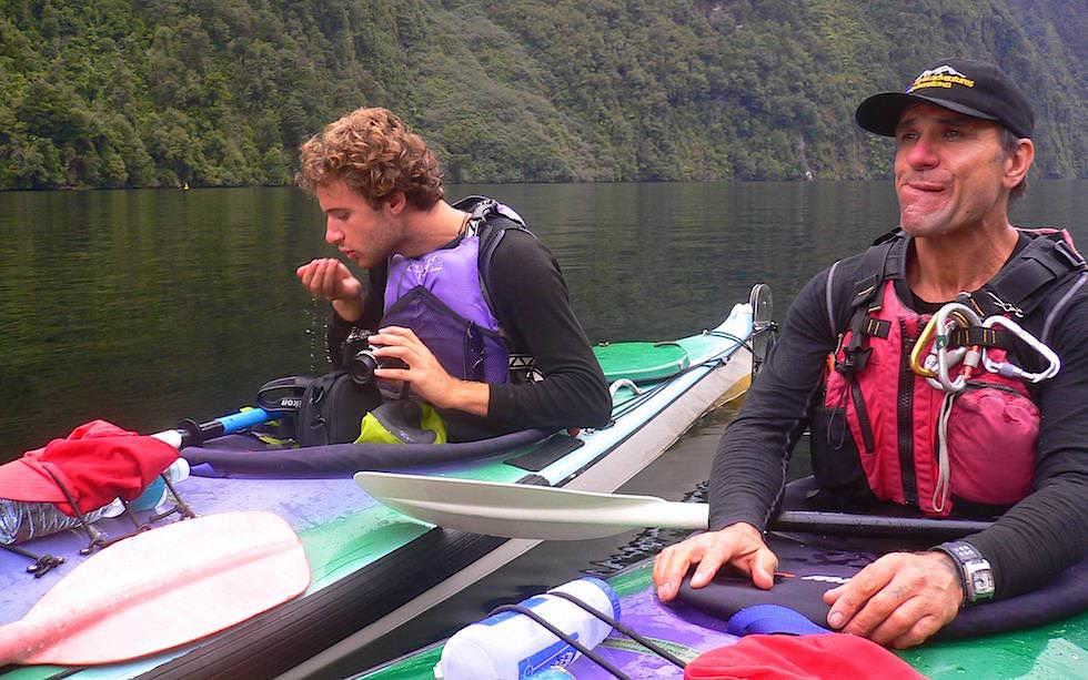 Doubtful Sound - Neuseeland - zwei Wasserschichten des Fjords