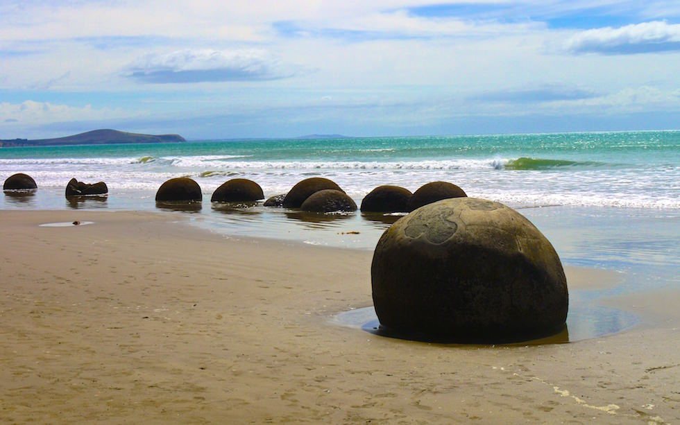 Moeraki Boulders near Oamaru New Zealand