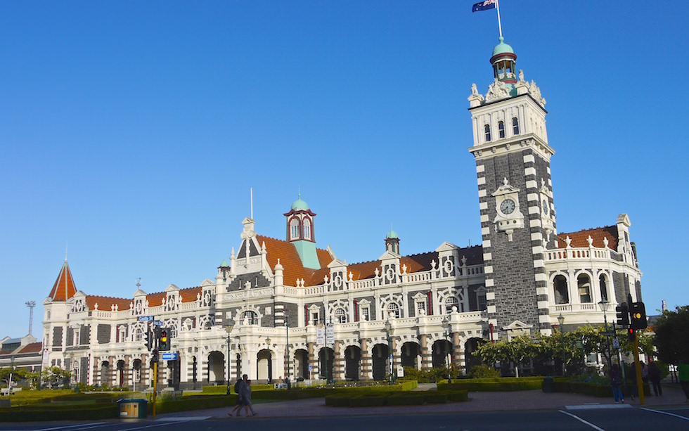 Train station Dunedin South Island New Zealand