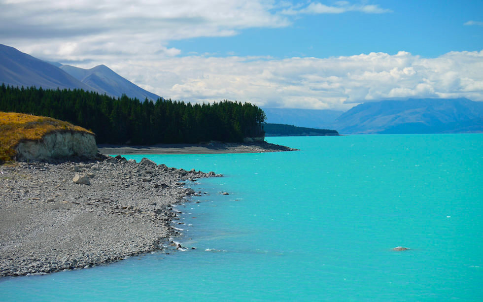 View from the Southern End of Lake Pukaki to Mt. Cook