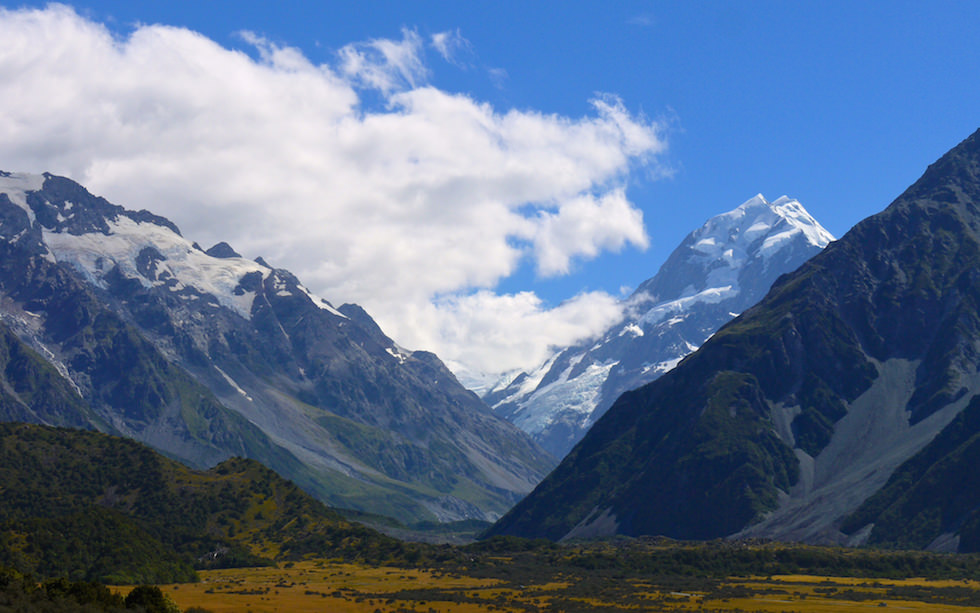 Tasman Valley - View from Tasman Glacier Lake Walk- Mt Cook in background