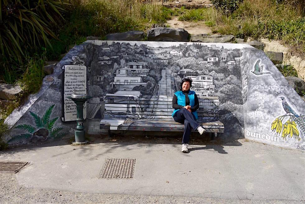 Am oberen Ende der Baldwin Street in Dunedin - Neuseeland