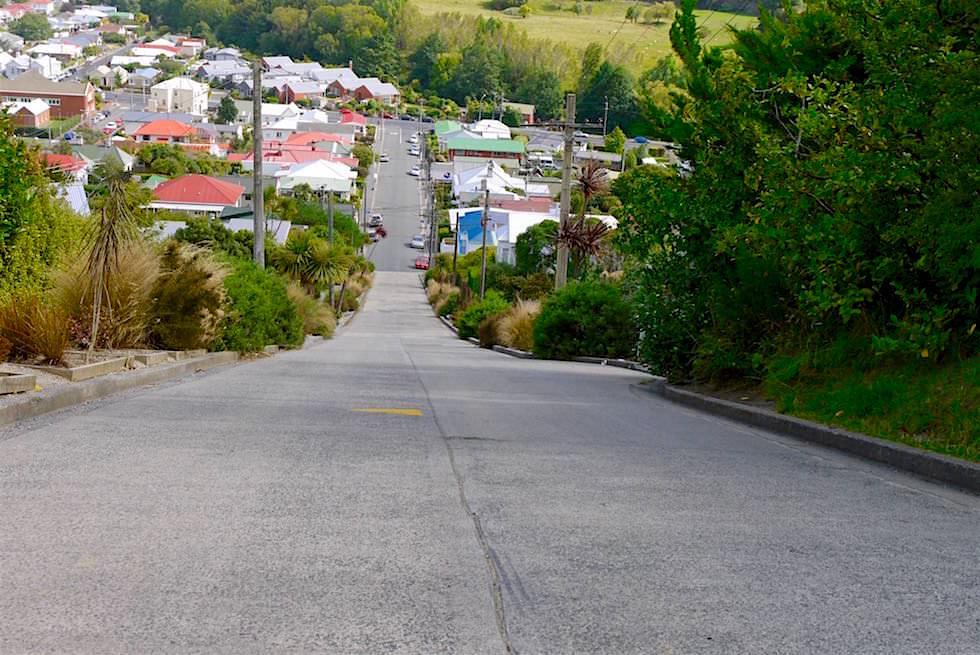 Baldwin Street ist die steilste Straße der Welt in Dunedin - Neuseeland