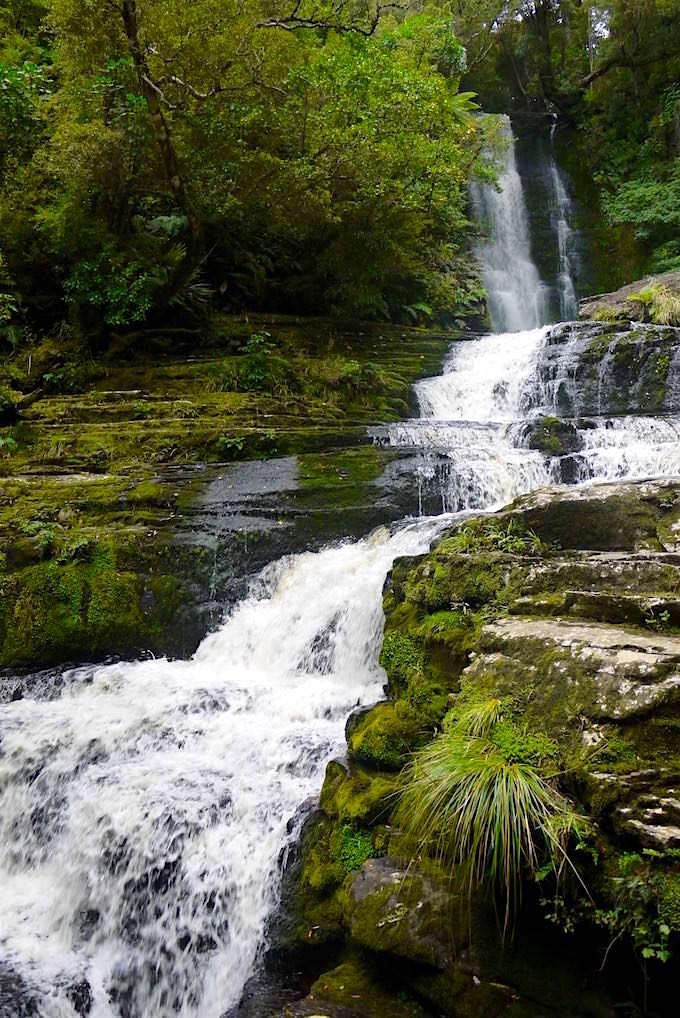 Wasserfälle der Catlins: Blick auf die spektakulären McLean Falls - Catlins - Neuseeland