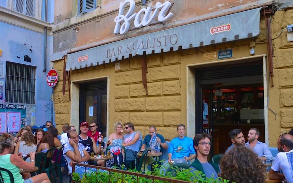Bar Calista meine Lieblingsbar in Trastevere in Rome Italien
