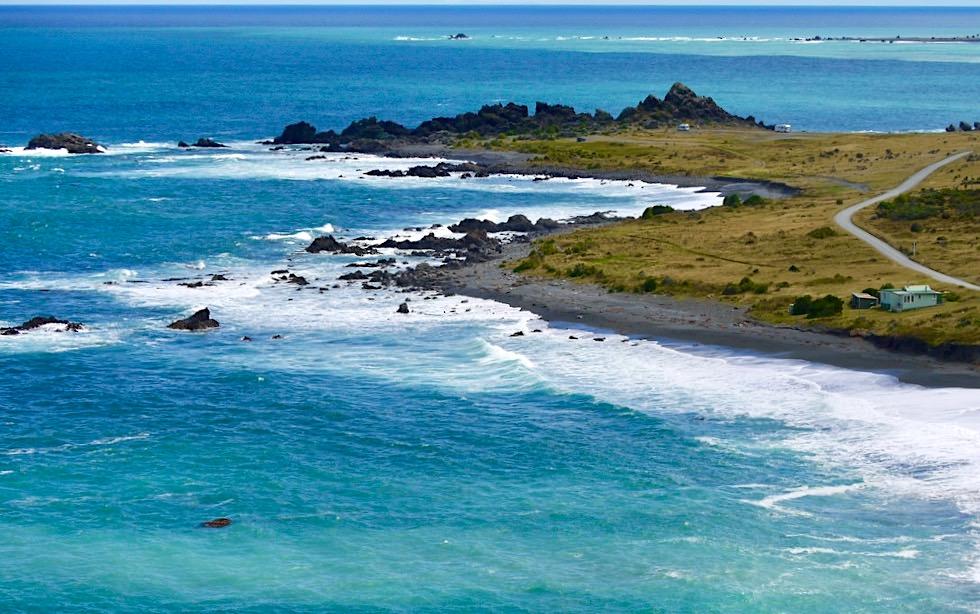 Cape Palliser Leuchtturm - Ausblick auf die größte Robben Kolonie der Nordinsel - Neuseeland