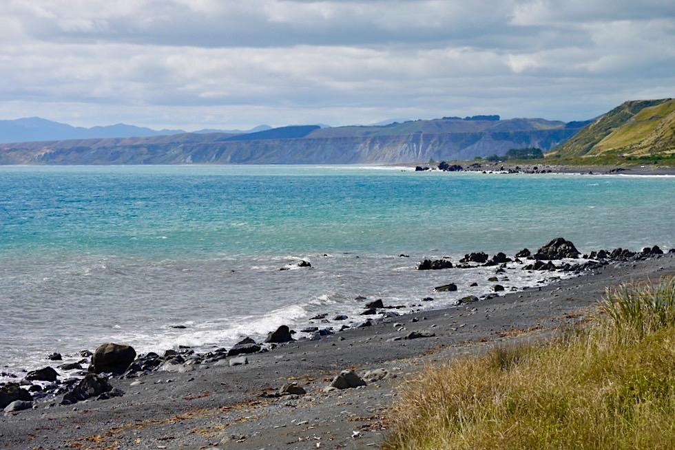 Cape Palliser Road zum Cape Palliser Lighthouse - Südlichster Punkt der Nordinsel von Neuseeland
