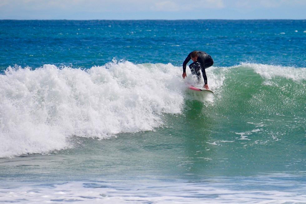 Cape Palliser - Surfen am südlichsten Punkt der Nordinsel - Neuseeland