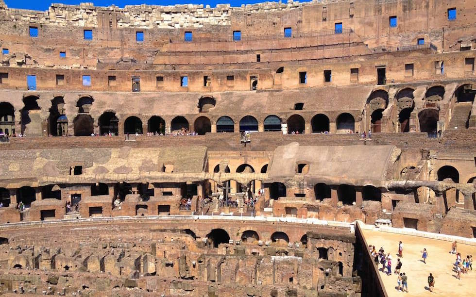 Colosseum-Walls-inside-Rome Italy - One of 7 world wonders