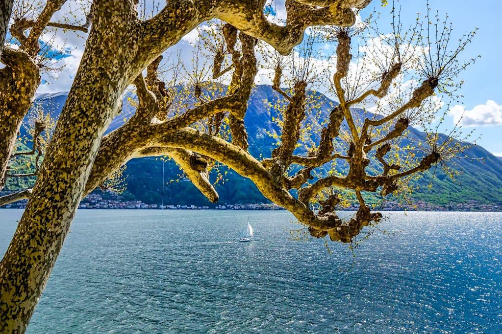 Comer See - Einer der tiefsten Seen Europas und der schönste der Oberitalienisches Seen- Lombardei, Italien