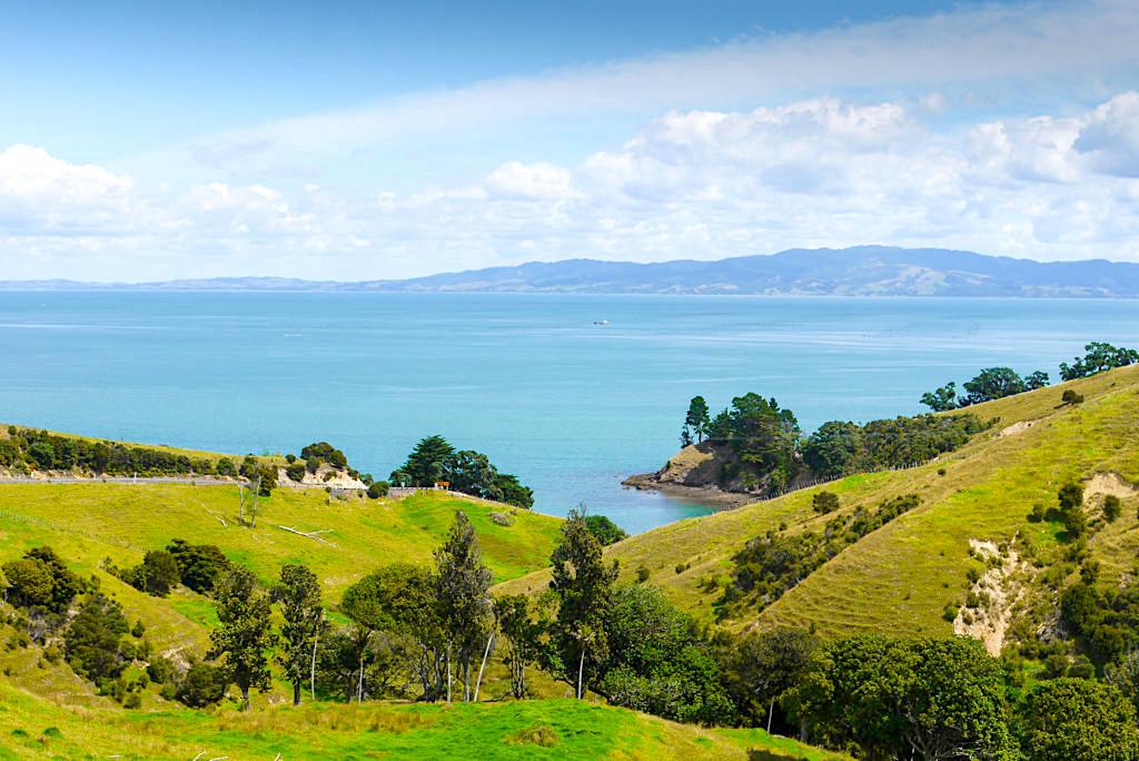Coromandel Halbinsel - Malerische Küstenstreifen auf der Westseite in der Nähe des Ortes Coromandel - Nordinsel, Neuseeland