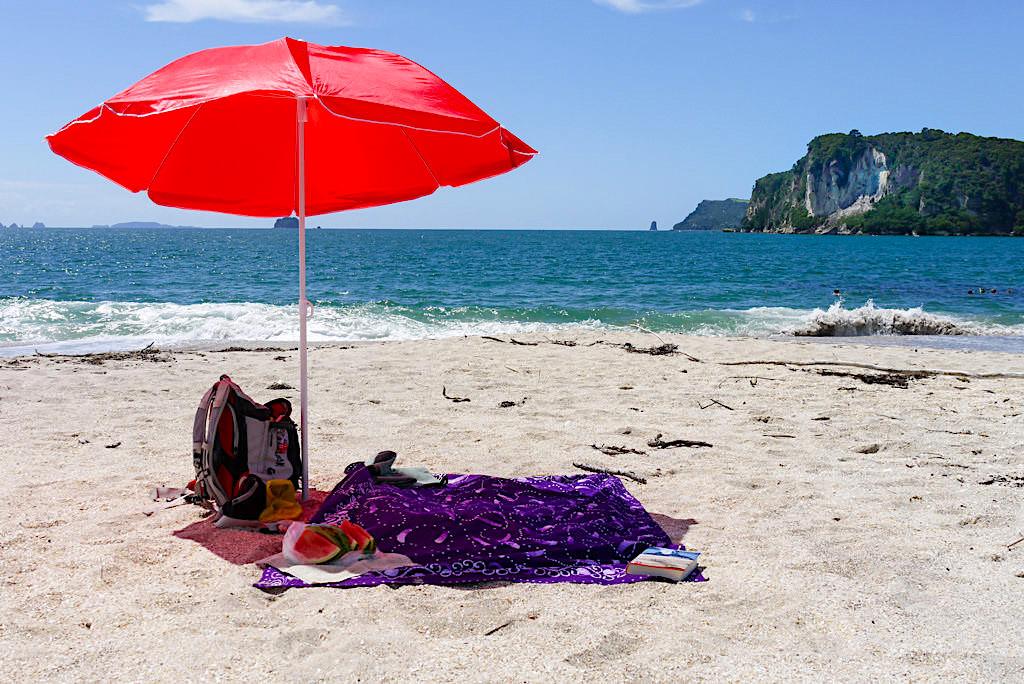 Faxmill Beach & Maramaratotara Bay: Strandleben, das schöner nicht sein könnte - Whitianga auf der Coromandel Peninsula - Nordinsel, Neuseeland