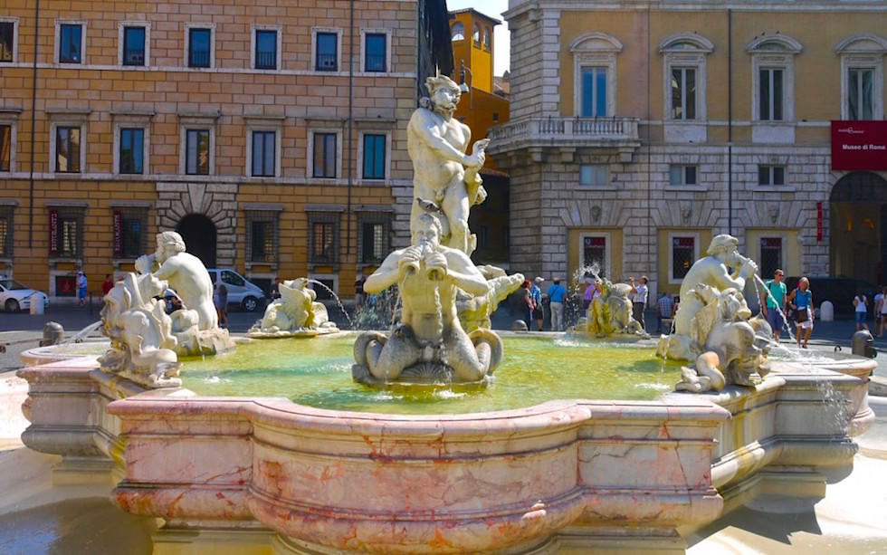 Fontana del Moro Piazza Novana in Rom Italien - Mohren-Brunnen