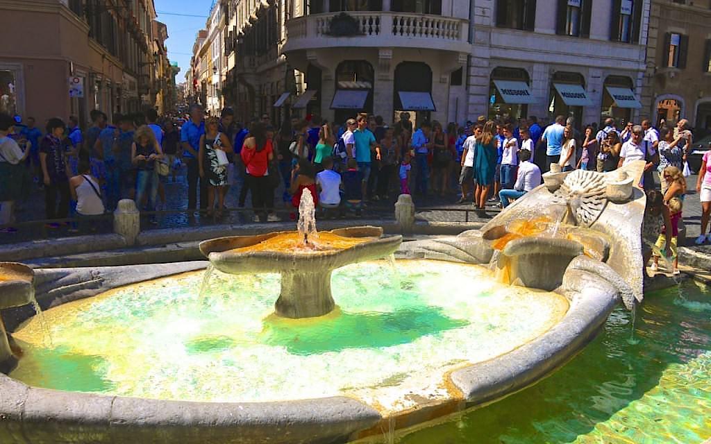 Fontana-della-Barcaccia-in-Rome-at-the-Piazza-di-Spagna