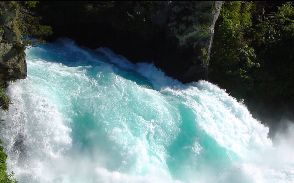 Huka Falls near Lake Taupo North Island NZ