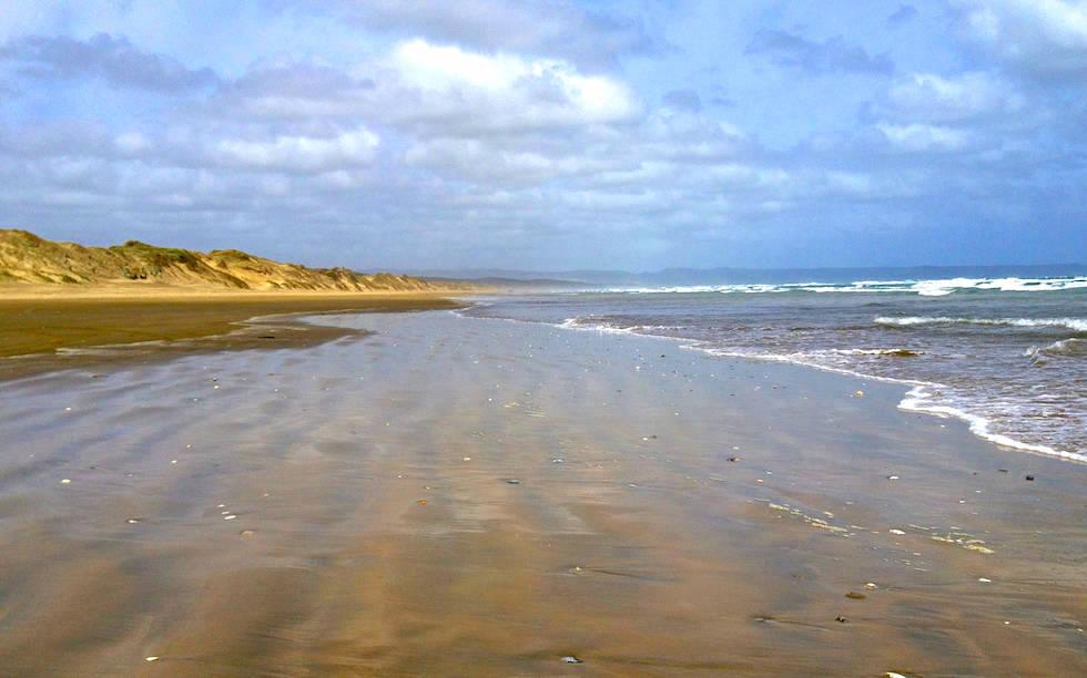 View on Ninety Mile Beach North Island NZ