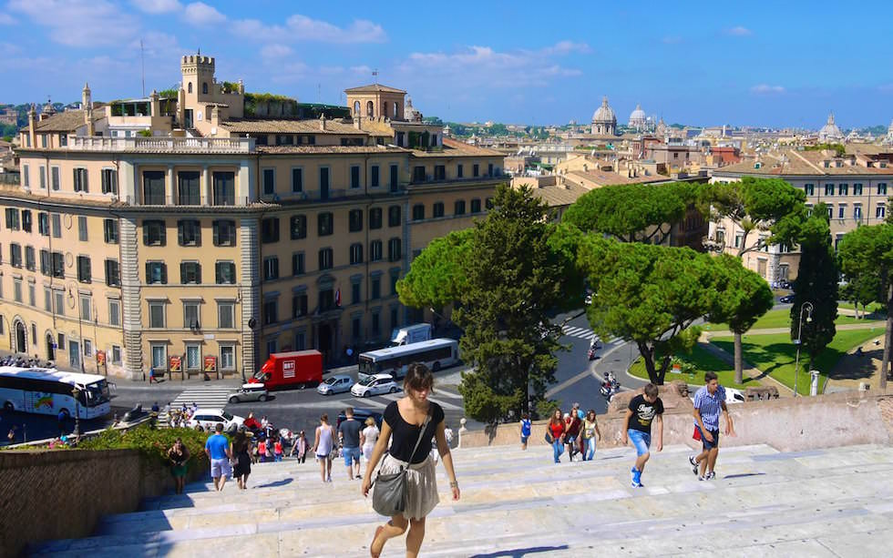 Majestic-Cordonate-Stairs-at-Capitoline-Hill-Piazza-del-Campidoglio-in-Rome