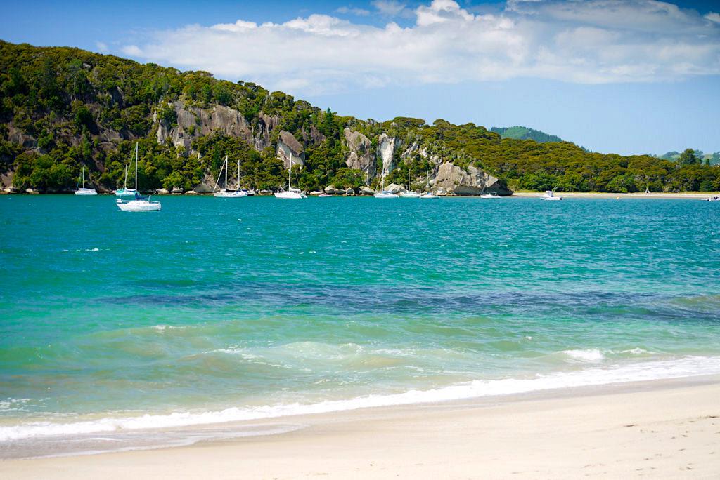 Whitianga Strände: wunderschöner Faxmill Beach & Maramaratotara Bay - Coromandel Peninsula Highlights - Nordinsel, Neuseeland