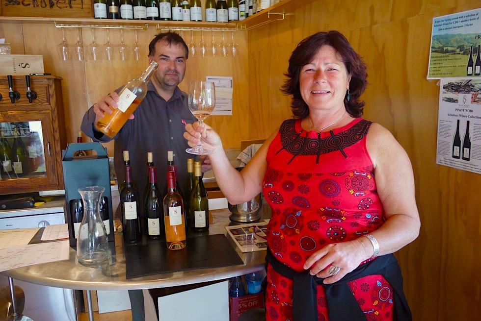 Leckere Weine in Martinborough - viele Weinkellereien & Weinproben - Nordinsel, Neuseeland