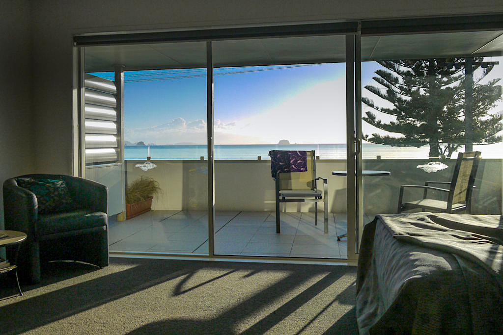 Übernachtungsempfehlung: Oceanside Motel - Schöne Apartments direkt am Strand - Whitianga am Buffalo Beach - Coromandel Peninsula - Nordinsel, Neuseeland