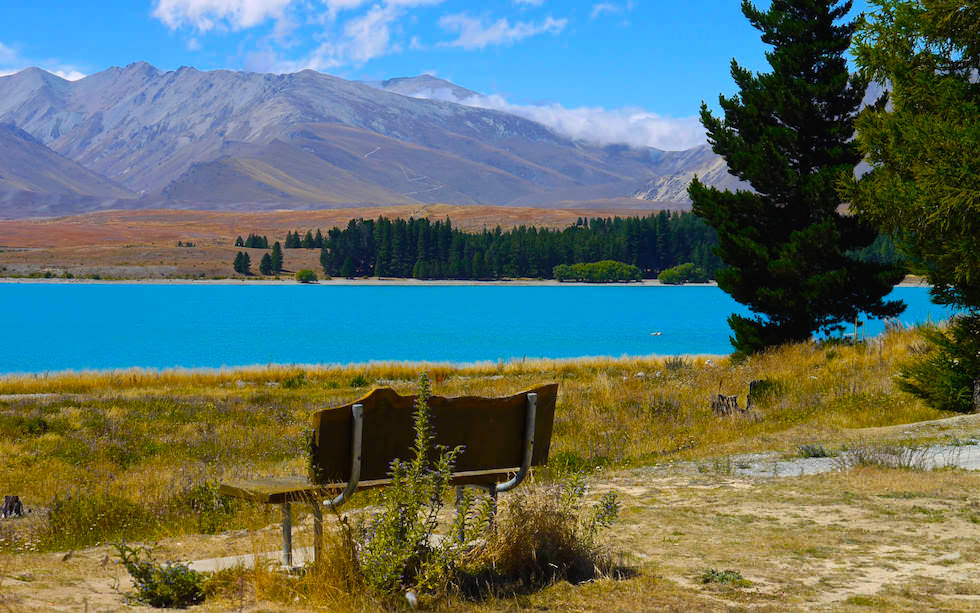 Beautiful view on Lake Tekapo - South Island NZ