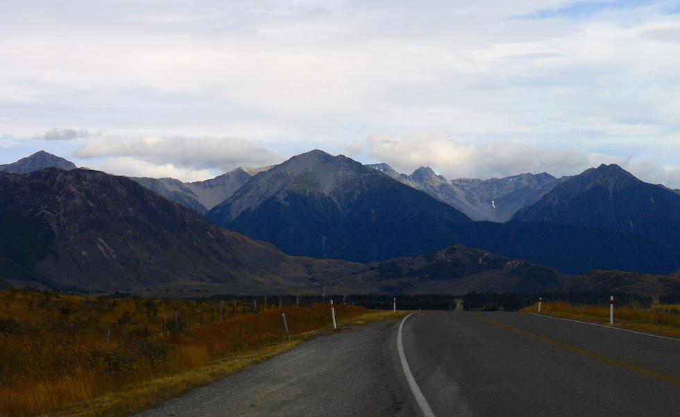 From Castle Hill to Arthurs Pass west of Christchurch NZ