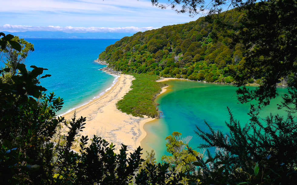 Sandfly Bay Abel Tasman National Park on South Island NZ