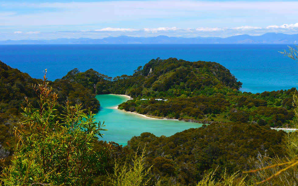 View near Torrent Bay Abel Tasman National Park on South Island NZ