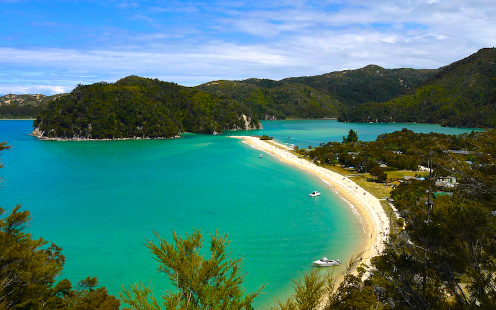 View on Torrent Bay Abel Tasman National Park on South Island NZ