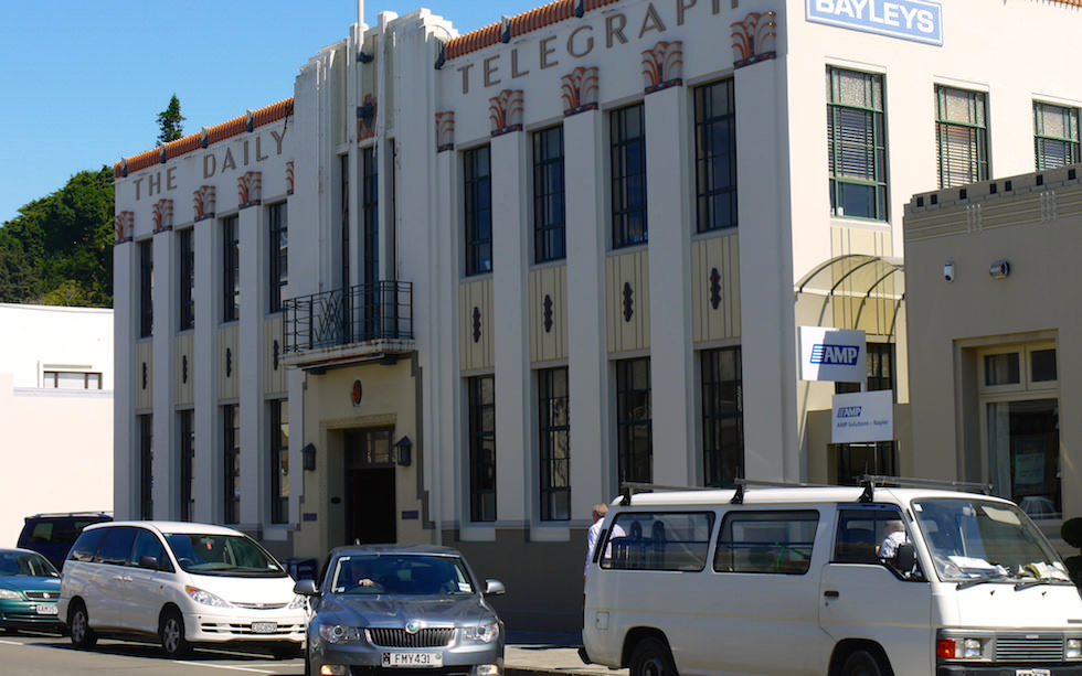 Napier Art Deco Buildings - North Island NZ